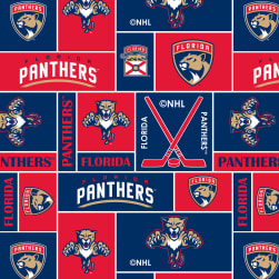 NHL Fleece Florida Panthers Fabric