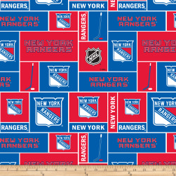 NHL Fleece New York Rangers Fabric