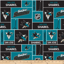 NHL Fleece San Jose Sharks Fabric