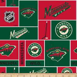 National Hockey League Minnesota Wild Fleece Fabric
