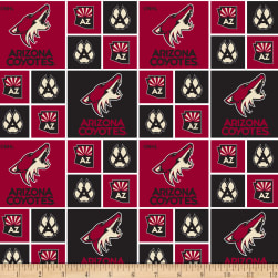 NHL Broadcloth Arizona Coyotes Fabric