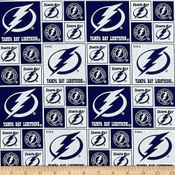 NHL Broadcloth Tampa Bay Lightning Fabric