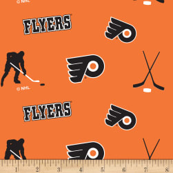 NHL Fleece Philadelphia Flyers Tossed Fabric
