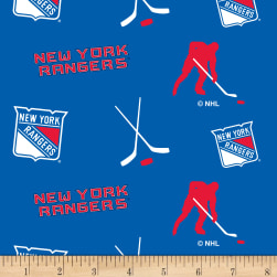NHL Fleece New York Rangers Tossed Fabric