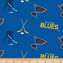 NHL Fleece Saint Louis Blues Tossed Fabric
