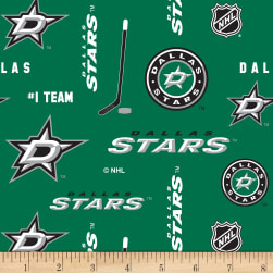 National Hockey League Dallas Star Fleece Fabric