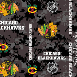 NHL Fleece Chicago Blackhawks Digi Fabric