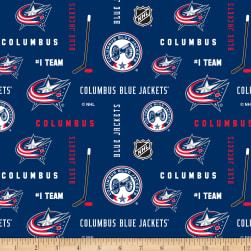 NHL Broadcloth Columbus Blue Jackets Fabric