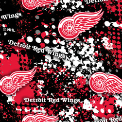 NHL Broadcloth Detroit Red Wings Fabric