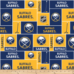 NHL Broadcloth Buffalo Sabres Fabric