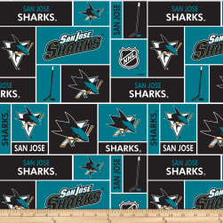 NHL Broadcloth San Jose Sharks Fabric