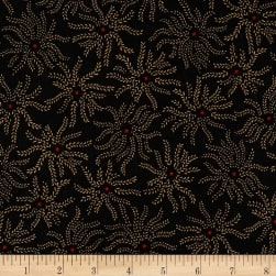Ebony & Onyx Starburst Floral Black Fabric