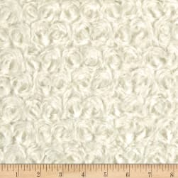 David Textiles Rosette Plush Fleece Ivory Fabric