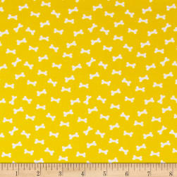 Daddy & Me Dog Bones Yellow Fabric