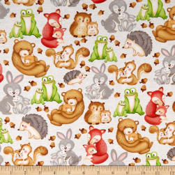 Hugs & Loves Packed Critters Gray Fabric