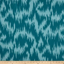 Duralee Andy Velvet Ikat Blue/Turquoise Fabric