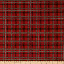 Rustic Charm Flannel Plaid Red Fabric