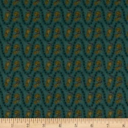 Itty Bitty Wavy Stripe Teal Fabric