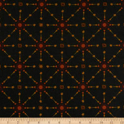 Itty Bitty Lattice Black Fabric
