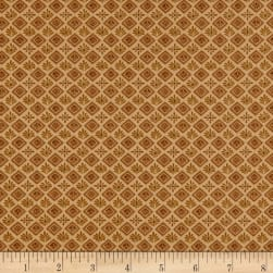 Itty Bitty Geometric Gold Fabric