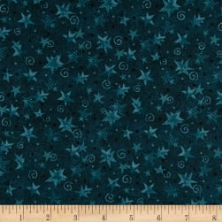 Itty Bitty Stars Dark Blue Fabric