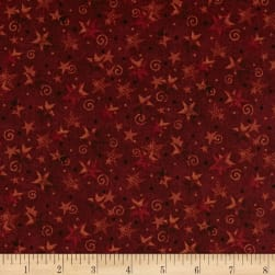 Itty Bitty Stars Red Fabric