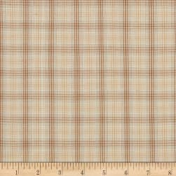 Itty Bitty Yarn Dye Small Plaid Cream Fabric