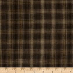 Itty Bitty Yarn Dye Small Plaid Black Fabric