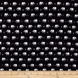 Telio Colorado Poly Faille Elephant Black/White Fabric