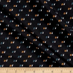 Telio Colorado Poly Faille Snail Black/White Fabric