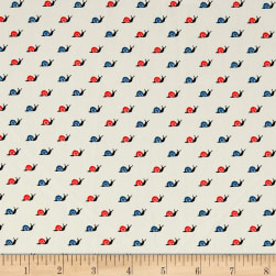 Telio Colorado Poly Faille Snail Red/Blue Fabric