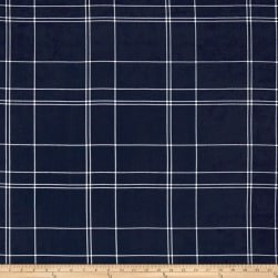Telio Pebble Crepe Plaid Navy Fabric