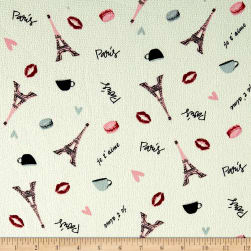 Telio Pebble Crepe Paris Ecru/Pink Fabric