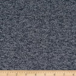 Telio Stewart French Terry Fleece Knit Navy Fabric