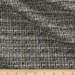 Telio Vincent Tweed Black Fabric