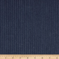 Telio Rayon Denim Stripe Dark Blue Fabric