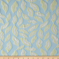Telio Kiss Me Jacquard Lips Baby Blue/Lemon Fabric