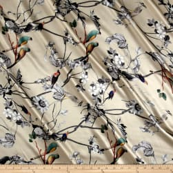 Telio Digital Silk Charmeuse Print Bird Branch Soft