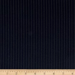 Telio Bonnie Parker Pinstripe Suiting Navy Fabric