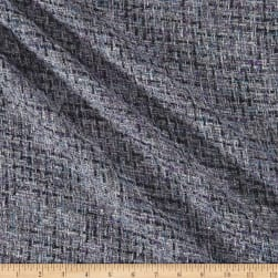 Telio Loulou Tweed Metallic Silver Lilac Fabric