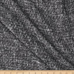 Telio Loulou Tweed Metallic Grey Black Fabric