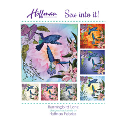 Hoffman Hummingbird Lane Quilt Kit Hummingbird Fabric