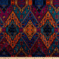 Morgan Home Running Bear Velvet Jewel Fabric