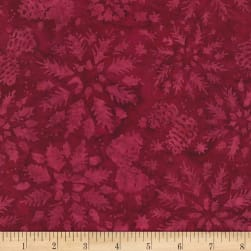 Timeless Treasures Tonga Batik Mini Garnet Wintry Mix