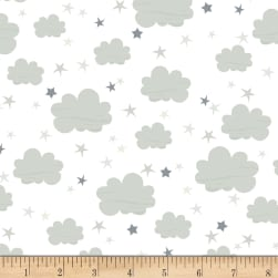 Timeless Treasures Moon & Stars Clouds Cloud Fabric