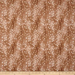 Kokka Real Winter Fawn Fur Canvas Auburn Fabric