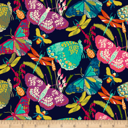 Butterfly Dance Butterfly Dance Navy Fabric