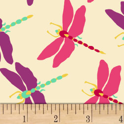 Butterfly Dance Dragonfly Dance Cream Fabric