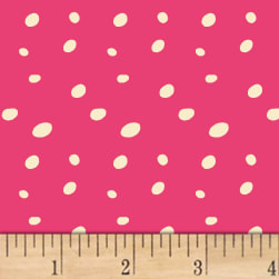 Butterfly Dance Spotty Dot Pink Fabric