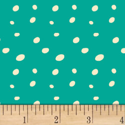Butterfly Dance Spotty Dot Turquoise Fabric